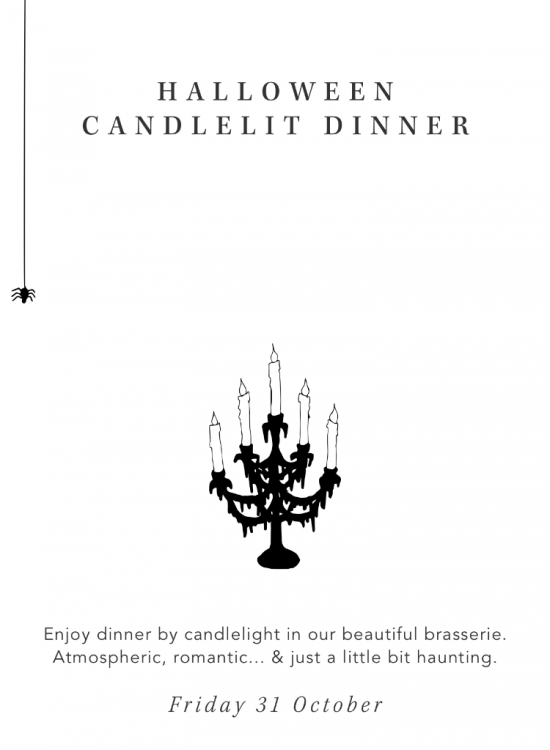 Halloween candlelit dinnerr