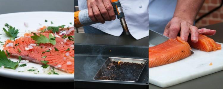 Triptych Smoked Salmon