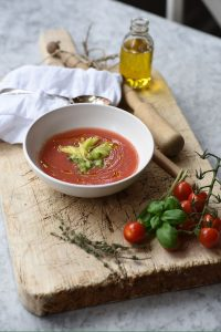 classic chilled tomato & cucumber gazpacho